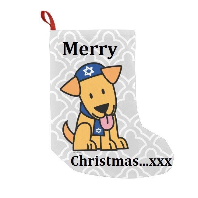 happy christmas dog  hanukkah sock.jpg